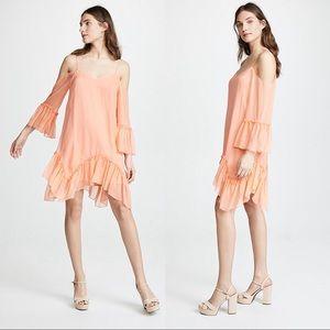 Alice + Olivia llaria Ruffle Cold Shoulder Dress M